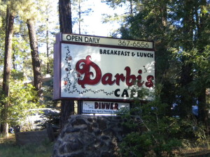Darbi's sign outside